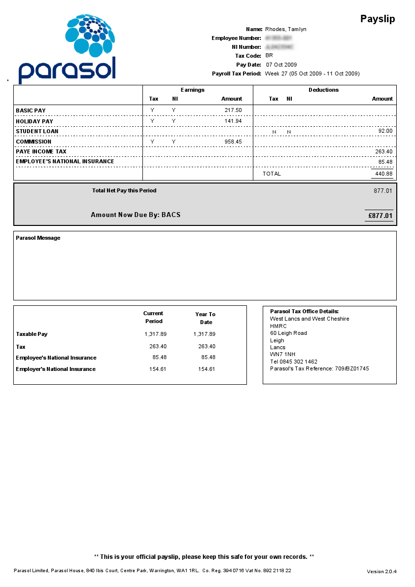 Doc820531 Simple Payslip Employee Payslip Template for MS – Simple Payslip Sample